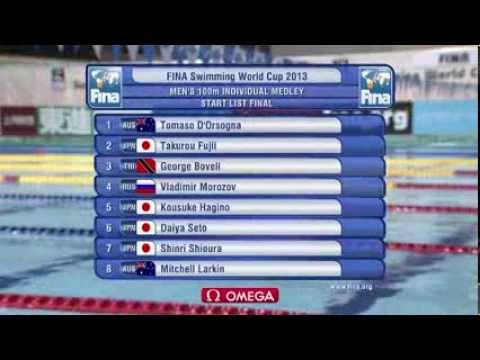Men's 100m medley final FINA Swimming World Cup 2013 Tokyo