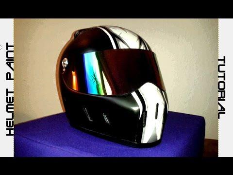 CUSTOM HELMET TUTORIAL / SPRAY PAINT Bandit motorcycle Streetfighter / no airbrush