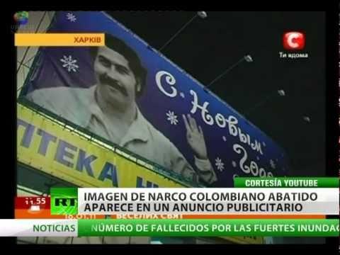 Ucrania: usan la imagen de Pablo Escobar en un anuncio de Año Nuevo