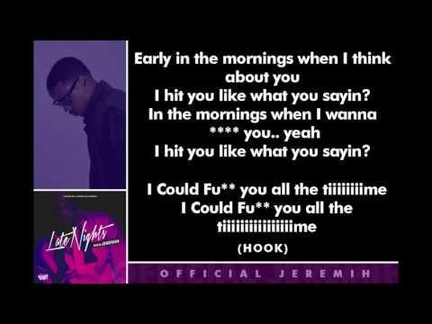 Jeremih - F*ck You All The Time [Lyrics]