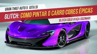 (PS3)GTA V ONLINE COMO COLOCAR CORES ÚNICAS NOS CARROS