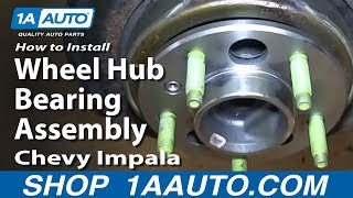How To Install Replace Bad Rear Wheel Hub Bearing Assembly