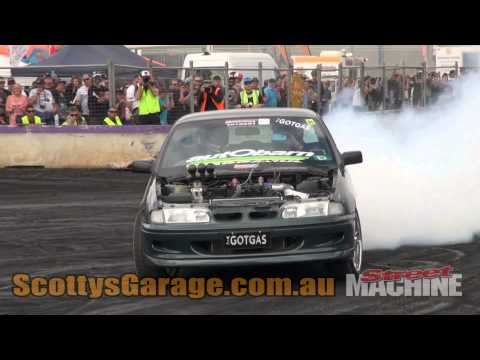 GOTGAS Nitrous V6 Commodore Burnout