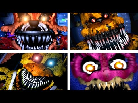 Five Nights at Freddy's 4 All Jumpscares