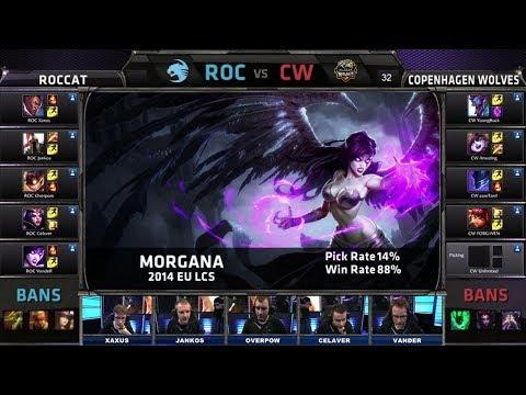 ROCCAT vs Copenhagen Wolves | Season 4 EU LCS Spring split 2014 W7D1 G4 | ROC vs CW Full game HD