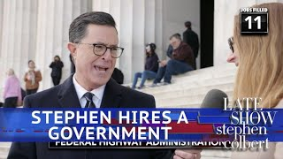 Stephen Colbert Fills Every Vacant Federal Government Job