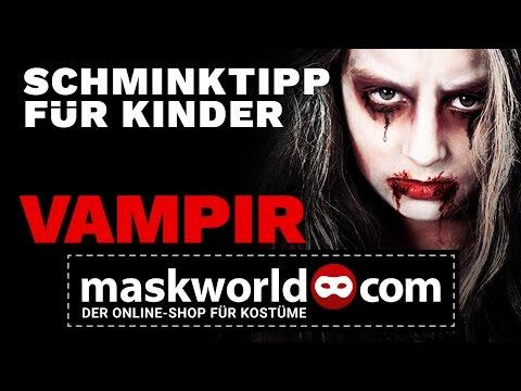 Halloween Make-up Tutorial Kinderschminken Vampir - Schminktipp von maskworld.com