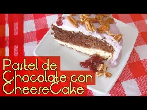 PASTEL DE CHOCOLATE CON CHEESECAKE [DÍA DE LAS MADRES 2013] ~ MariquisTuts ★