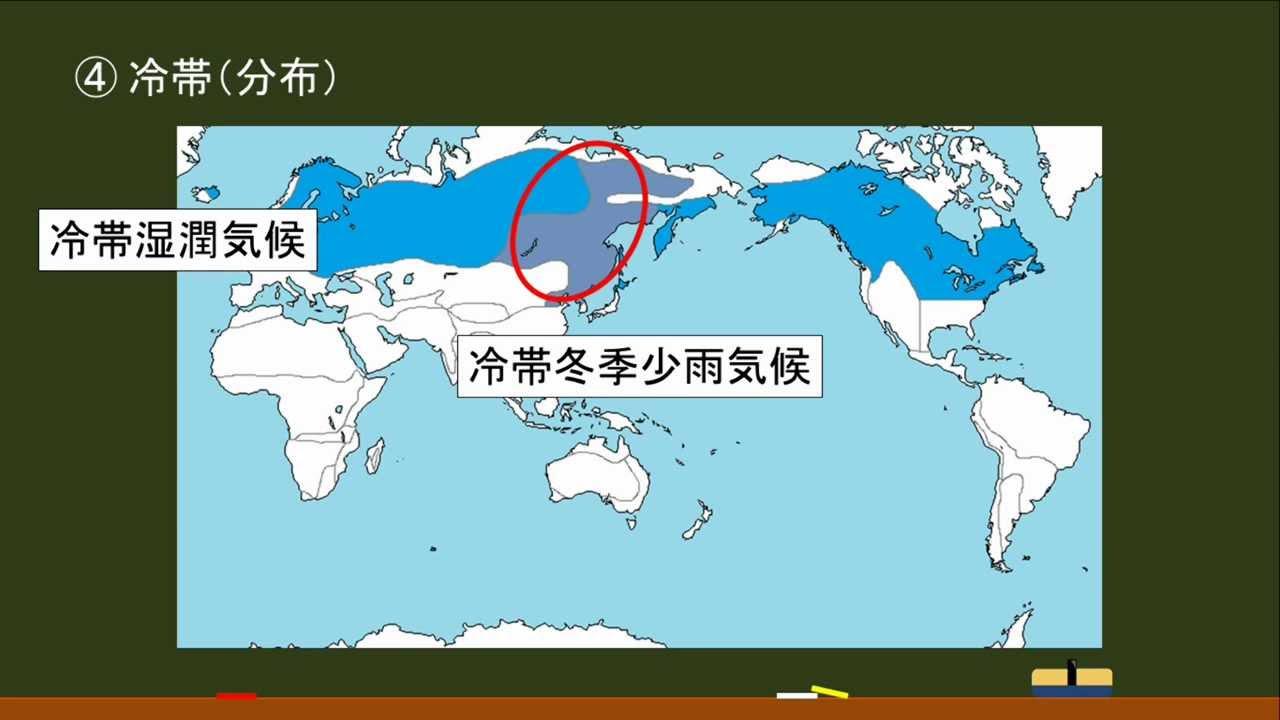 〔高校地理・気候〕 冷帯の分布 -オンライン無料塾「ターンナップ」-