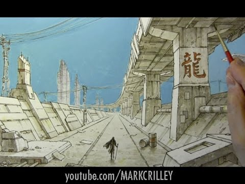 Drawing Time Lapse: Dystopian Cityscape