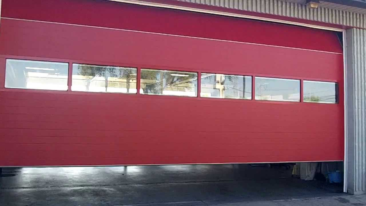 Chi 3285 commercial garage doors installed at the firehouse youtube