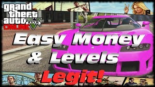 GTA 5 Online How To Make Easy Money & RP! Level Up Fast