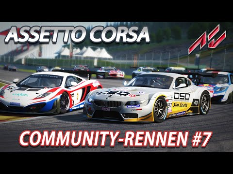 COMMUNITY-RENNEN #7 | Assetto Corsa 1.1 [GER] [G27] McLaren MP4 GT3 @ Spa-Francorchamps