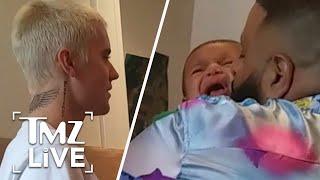 DJ Khaled's Son Asahd Cries When Meeting Justin Bieber | TMZ Live