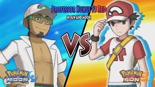 Pokemon Sun and Moon: Profesor Kukui Vs Red (Pokemon Battle Legend Red, Alola Red)