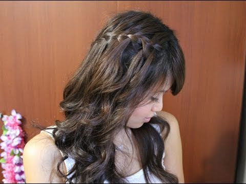 How To Do a Waterfall / Fairytale Braid Hair Tutorial