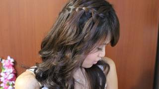 How To: Waterfall Braid Hairstyle For Long And Short Hair