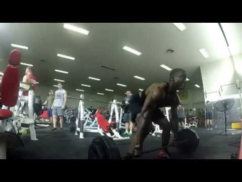 Bent over rows 275 lbs for 12