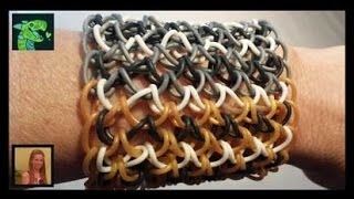 How To Make A Dragon Scale Cuff On A Rainbow Loom I
