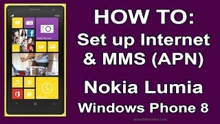 Nokia Lumia How To Set Up Internet & MMS