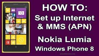 Nokia Lumia How To Set Up Internet & MMS