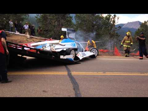 2013 Pikes Peak Crash/Accident Towing Of the eO PP01 pikes peak