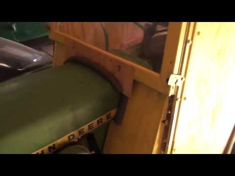 John Deere 140 with home made snow cab and electric snow chute operation