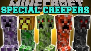 Minecraft special creepers 4 faced creeper jumping creeper baby