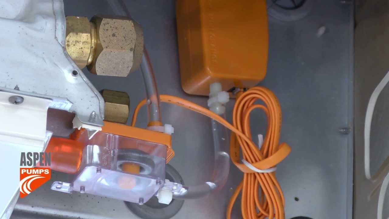 Install Of Mini Orange Pump On Ceiling Unit Youtube