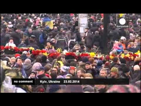 Ukraine: tributes to fallen 'heroes' 01-03-2014