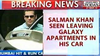 HLT : 2002 Hit-and-Run Case: Salman Khan Seen Leaving Residence