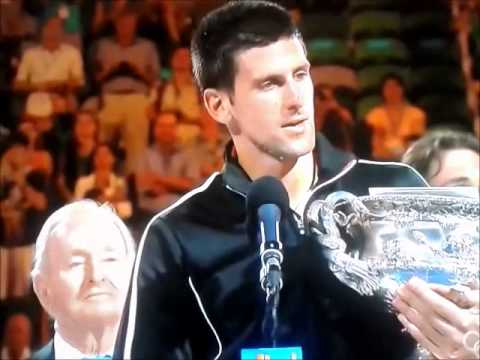 Djokovic vs Nadal Australian Open 2012 Trophy Presentation