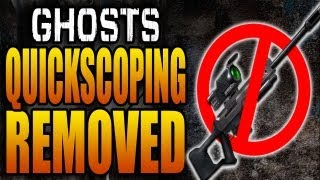 Quickscoping Removed from Call of Duty: Ghosts! COD Ghost Sniping Sniper Nerf (Official HD)