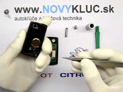 Demont� Peugeot, Citroen vyskakovac� auto k���  , How to disassembly car key fob 2,3 button .