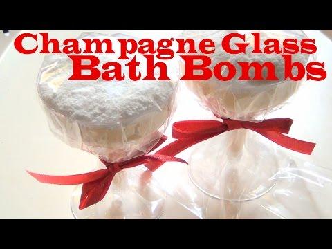 DIY ♥ Champagne Glass Bath Bombs