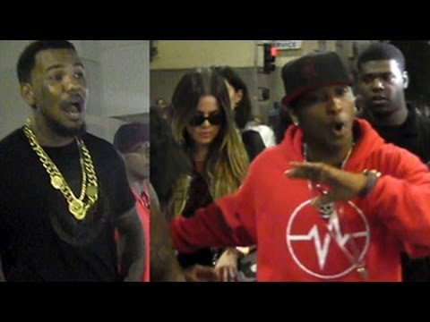 Khloe Kardashian & The Game's Entourage ATTACK Paparazzi
