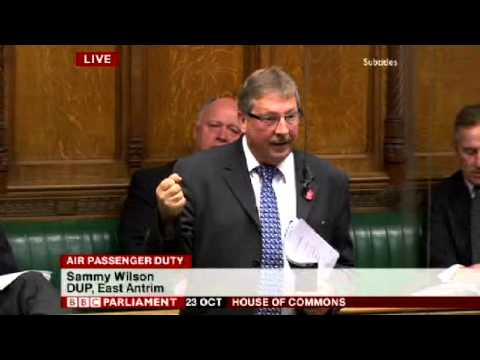 Sammy Wilson Calls for Abolition of Air Passenger Duty