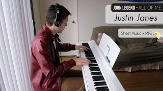 John Legend All Of Me [Piano Cover + Sheet Music]