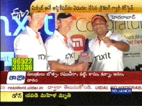 News Coverage by ETV(Telugu)-Gary Kirsten is happy to announce the arrival of Mxit in India.
