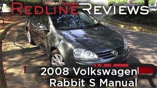 2008 Volkswagen Rabbit S Manual Walkaround, Exhaust, Review, Test Drive videos