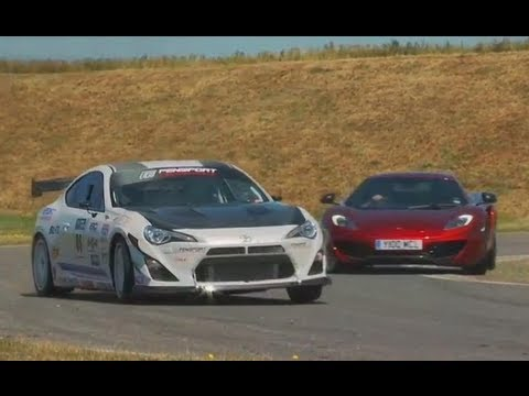 New Toyota GT86 TURBO vs McLaren MP4-12C