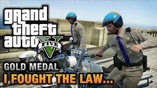 GTA 5 Mission #41 I Fought The Law [100% Gold Medal