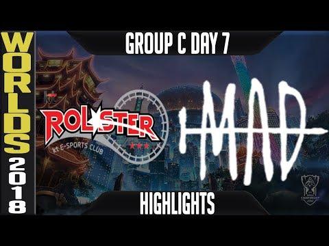 KT vs MAD Highlights | Worlds 2018 Group C Day 7 | KT Rolster(LCK) vs MAD Team(LMS)