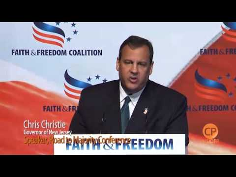 Chris Christie Addresses Conservative at Faith & Freedom Coalition Event in DC