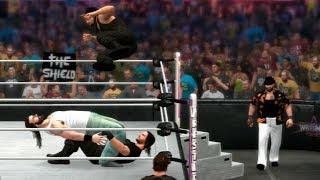 WWE 2K14: The Wyatt Family Vs The Shield (6 Man Tag Match