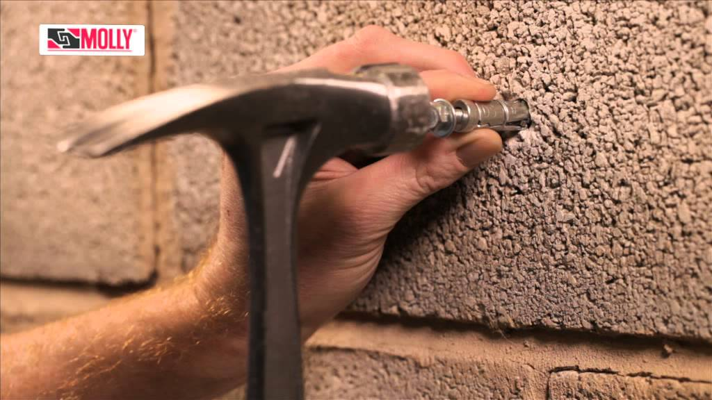 Bolt Shield Anchor How To Use Molly Fixing Bolts For