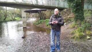 Ar Drone flying skills - under and over bridge