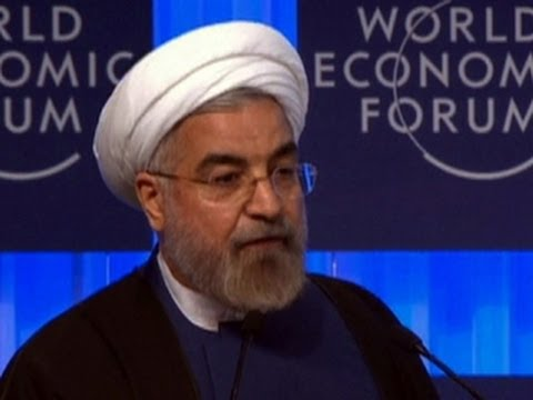 Iran's president Hassan Rouhani speaks to global elite