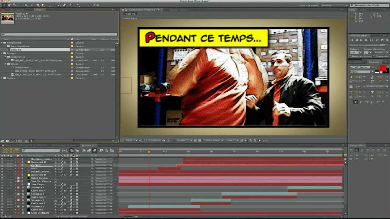 Cr er un effet comic book tutoriel after effects cs5 5 for Effet miroir photoshop cs5