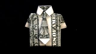 Dollar Origami Shirt & Tie How To Fold A Dollar Bill In To